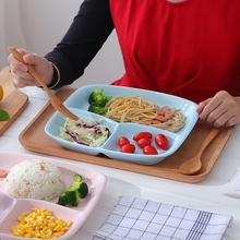 Whois Very popular with children house design white porcelain melamine food divider plate