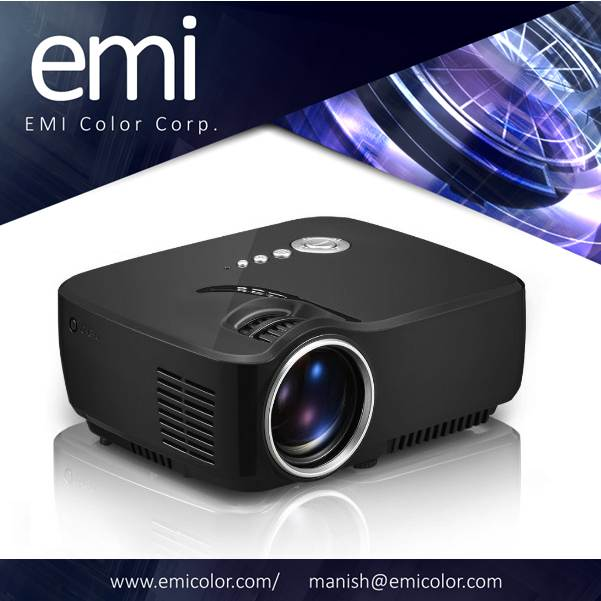 Projector, 800*480Pixels 1200 lumens, projection size 18inches to 150inches 1080P Full HD Support