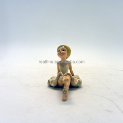 Resin Cute Design Ballet Dancer Figurine, New Ballet Dancer Items