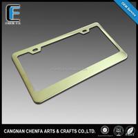 Manufacturer wholesale custom US standard blank car license plate frame