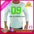 polyester spandex long sleeve skin tight t shirt for mens sports wear manufacturer