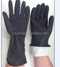 100g black outside and white inside bi-color hand work industrial latex gloves/safety glove / industrial glove gloves work