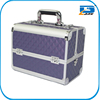 Professional aluminum purple makeup train vanity case