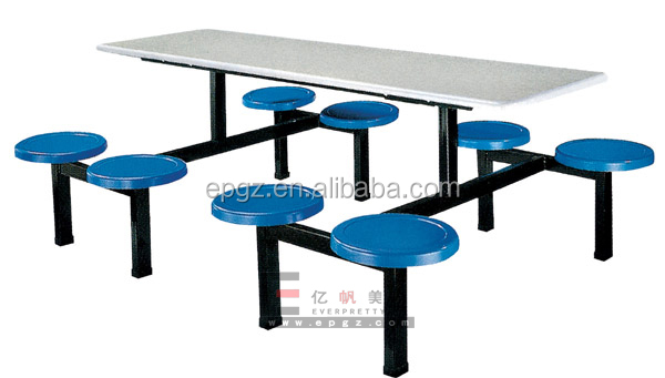 Canteen furniture dining table new model funky restaurant for Funky cafe furniture