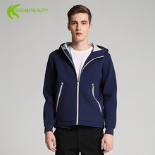 latest design sports jacket running man jacket blank front open outdoor jacket with hood
