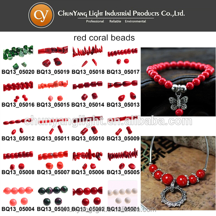 Factory cheap price natural red coral beads necklace wholesale