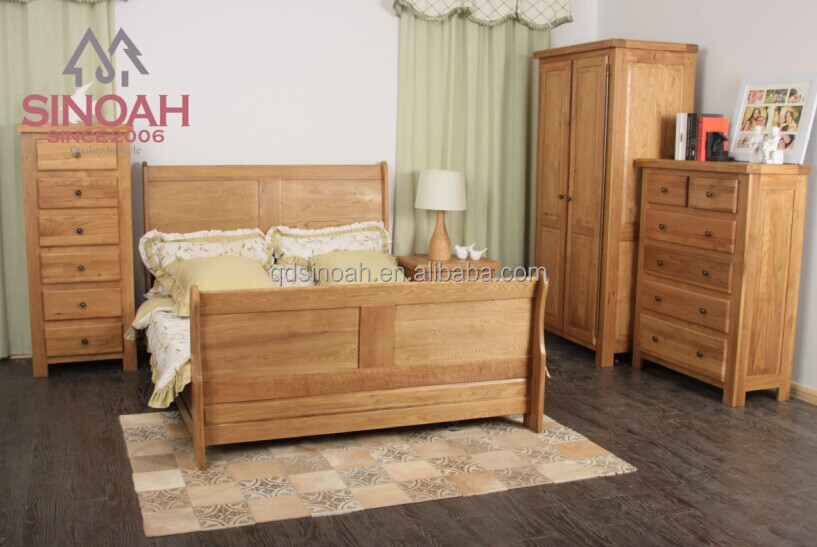 Chinese manufacturer oak furniture wooden oak bedroom furniture