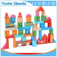 52pcs High quality Beech wooden city blocks <strong>toy</strong> for building castles