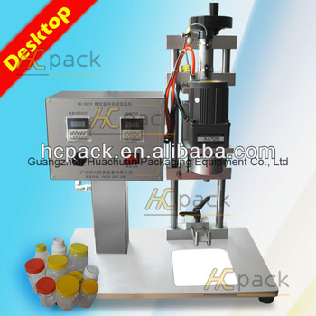 saline bottles manual capping machine