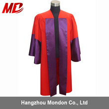 Fasional Matte Black academic Doctoral Graduation Gown/robe
