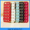 For iphone 5 case Punk Mobile phone case Skull style Pyramid Studded leather stud skull case for iphone 5(PT-I5212)