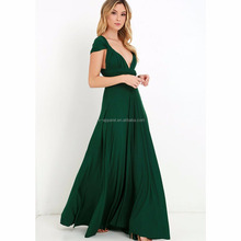 Sexy cheap elegant wedding long bridesmaid convertible dress