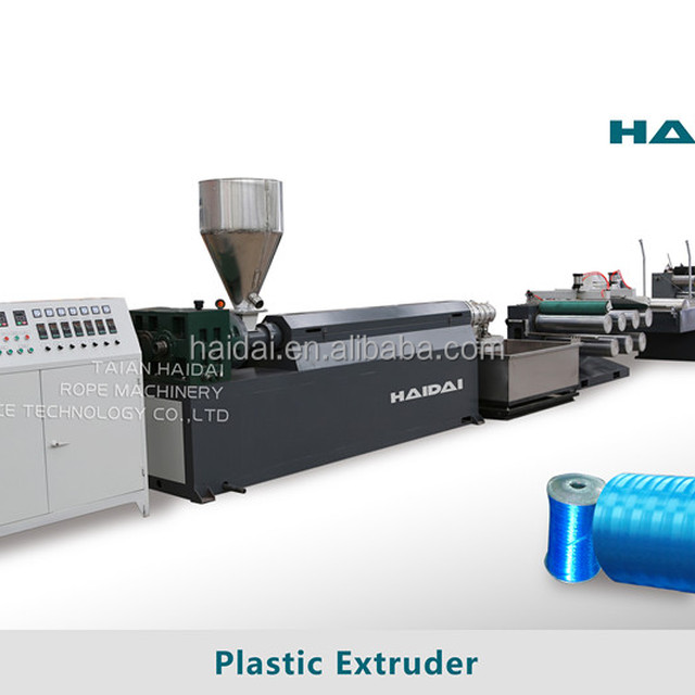 Single screw high capacity PP PE Plastic monofilament raffia Yarn Extruder Machine from Haidai