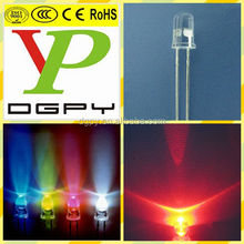 Through Hole Type 5mm led light emitting diode Red 620-625nm 6000-7000mcd High Brightness 1.8-2.0V Diode ( CE & RoHS )