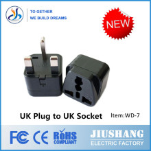 Hot World Travel Socket Adapter UK 3 Pin Plug,2 Pin Din Plug