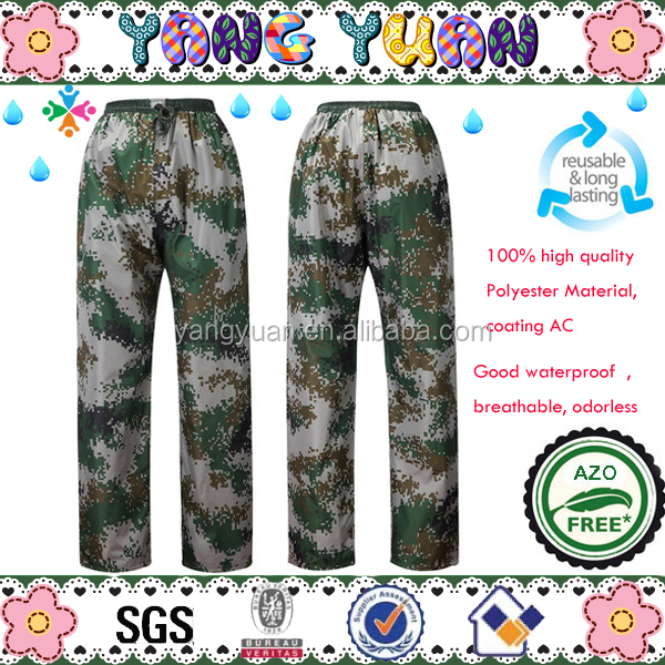 Camouflage rain pants waterproof