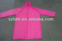 Eco-friendly Clear Pvc Raincoat