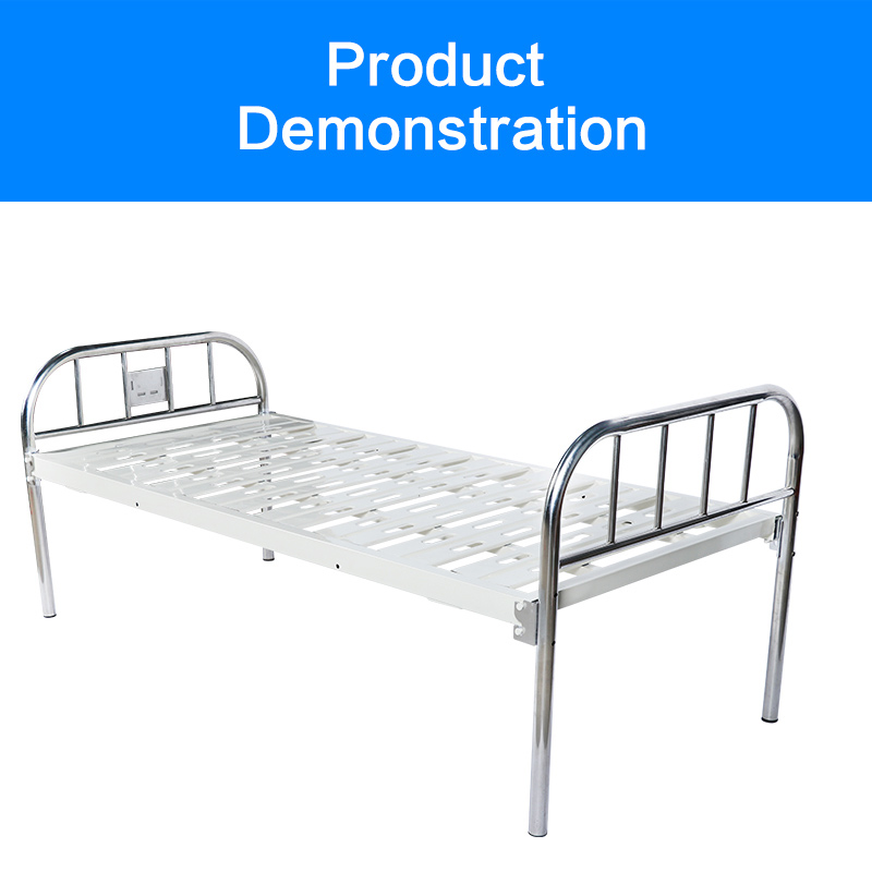 Medical bed with high quality flat single nursing bed hospital made of stainless steel