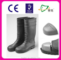 2014 High Quality Short Rubber Boots Black for Men with steel toe Wholesale