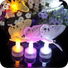 Christmas Event Decoration Garden Fiber Optic Lighted Butterfly Decorations