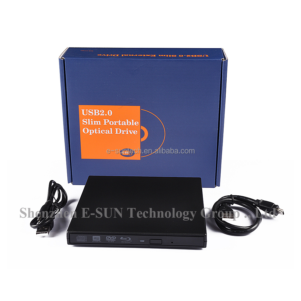 ECD011-BD-BLK Wholesale USB 2.0 External DVD/BD blu ray Drive blu ray burner dvd writer