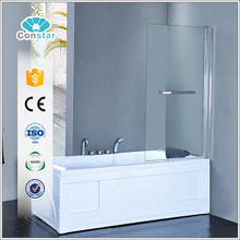 Constar clear glass pivot bathtub shower screen