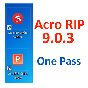 2018 Newest Free Download One Pass White Ink AcroRIP ver9.0.3 Acro RIP Software 9.0.3 Version For UV DTG Flatbed Printer