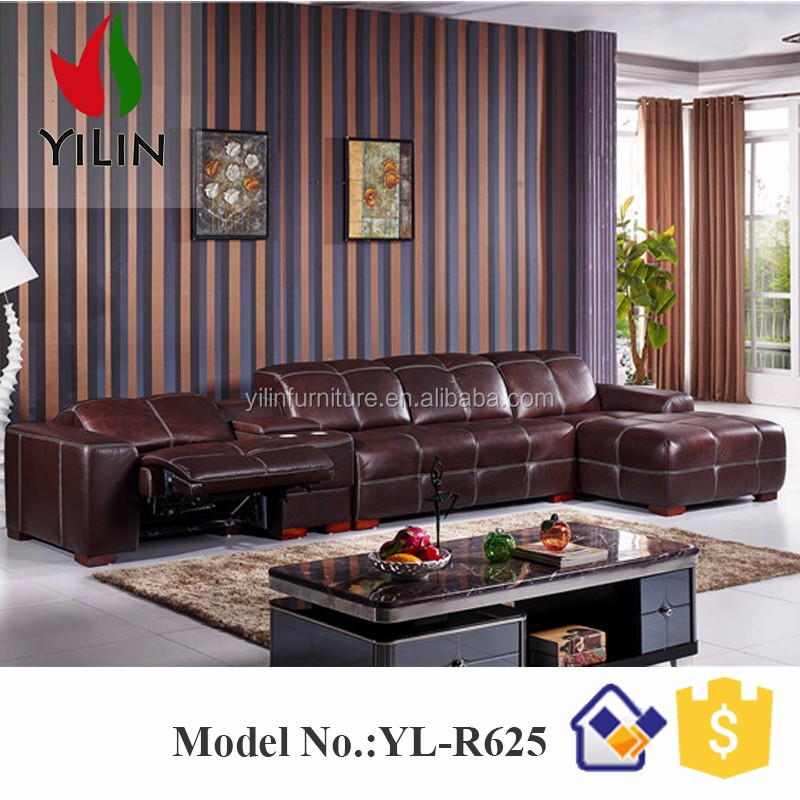 Hot sale alibaba L shape corner leather with storage 9 seater sofa set
