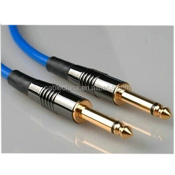 6.35mm Mono Plug Male To Female XLR cable Guitar Cable Gold Ends 6m
