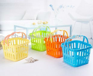 cheap plastic with handle square baskets