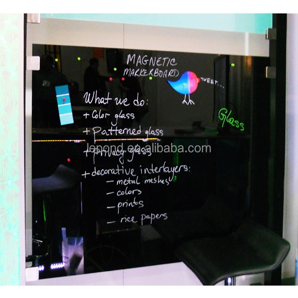 N357 Decor Magnetic Glass Board, Magnetic Marker Board Laminated Safe Glass