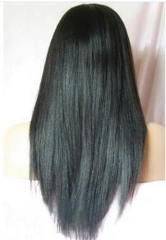 Silky Straight Full Lace Remy Indian Human Hair Wig