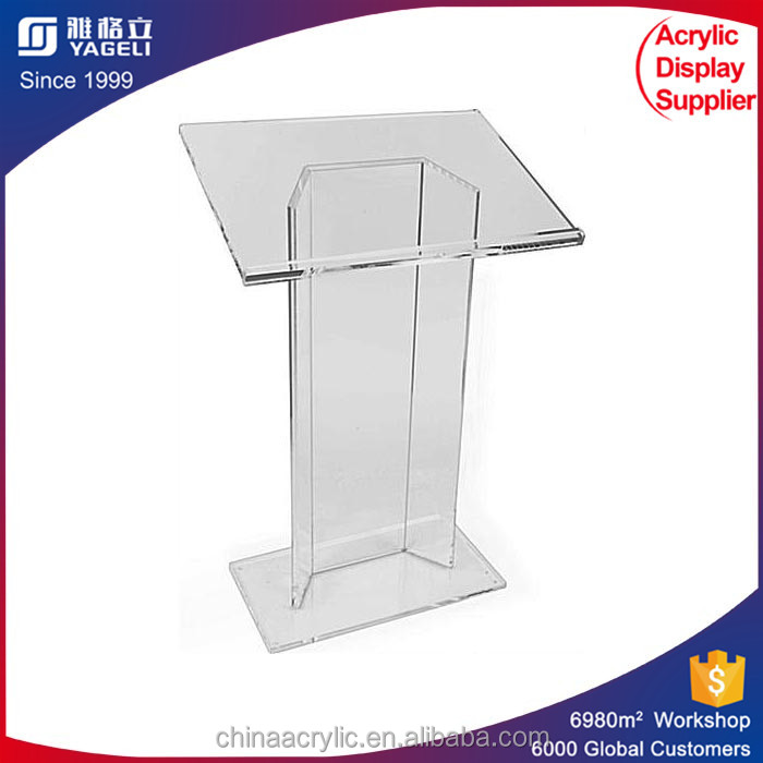 personalized clear customized printed acrylic desktop podium lectern