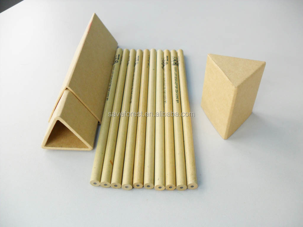 Triangle tube with kraft paper HB pencil