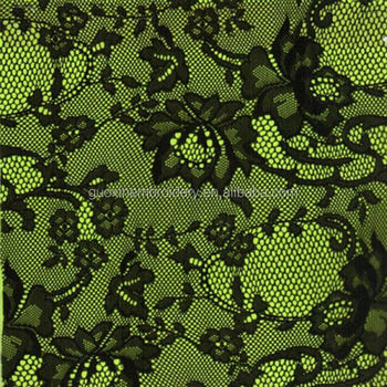 2014 nylon rayon lace / lace fabric / black embroidered lace for ladies