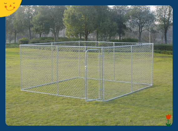 Outdoor Dog Kennel Large Tall Chain Link Fence Pet Enclosure Run House 6x10x10 Foot
