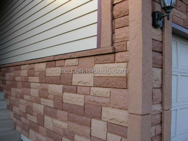 Fireproof River Rocks : Wall panel leather river stone faux