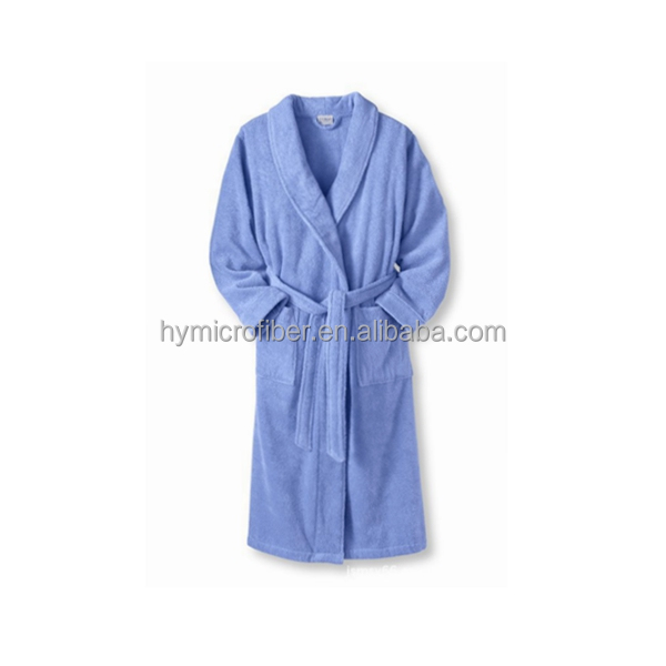 Hot selling velvet fabric hotel bathrobe with high quality