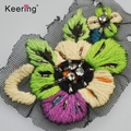 Clothing Bead adhesive bead Flower plush line patch of embroidered designer