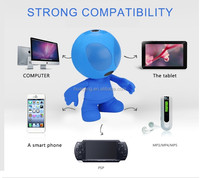 Wholesale CE Support MMC Blue Portable 1200mAh computer speaker box, wireless speaker