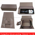 Trade Assurance Supplier Wholesale Fashion foldable paper packaging Wine box, flip top paper wine box with magnetic catch