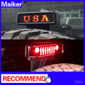 For jeep wrangler accessories High LED brake light flat LED brake light cover