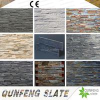 CE Passed Split Surface Antacid Natural Stacked Stone Veneer Panel Slate Wall