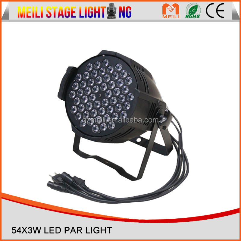guangzhou factory High Power 54x3W RGB 18W LED Par Light