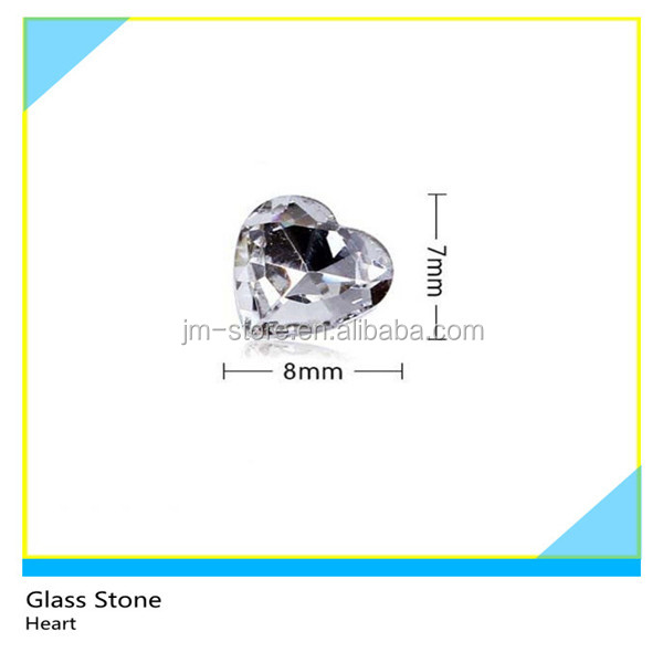 Popular Korean Hot-Fix Flat Back Crystal 5mm Heart Glass Stones for Kid Clothes