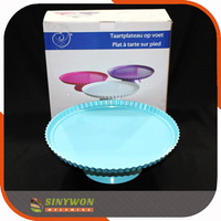 Customized One Tier Food Grade Melamine Cake Stand Plastic Cupcake Stand