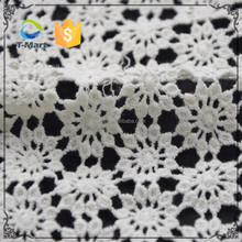 Guangzhou White Cotton Lace Embroidery Fabric Organic Milky Lace 100 Cotton Lace Fabric for Wholesale