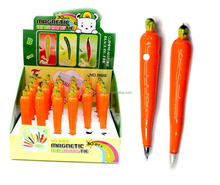 Advertising cute carrot shape ball pen with magnet