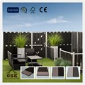 1800*1800mm with 150*8 board hot sale fence outdoor basic wood plastic composite fence panel for garden decoration