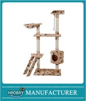 "Excessive Modern 60"" Cat Tree Activities Tower Kitten Furniture Scratching House Color Type Beige Paw"